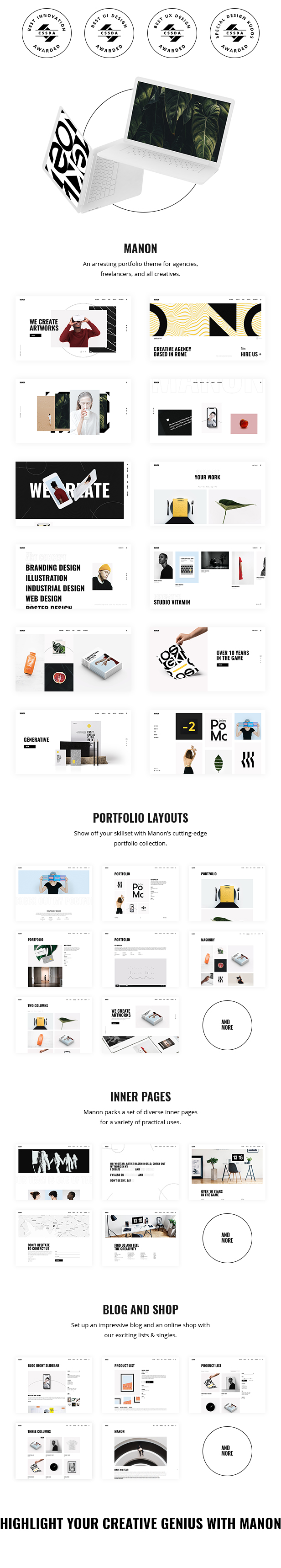 Manon - Portfolio & Agency Theme - 2
