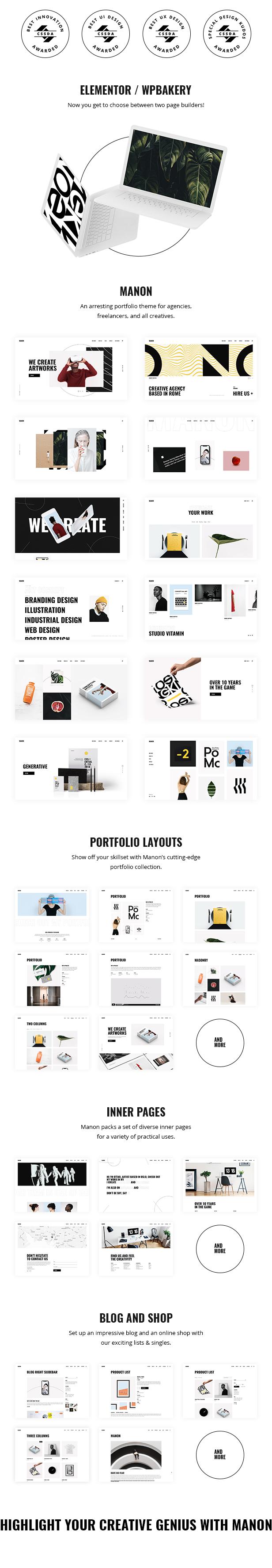 Manon - Portfolio & Agency Theme Download